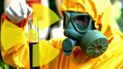Radioactive substances Stock Footage