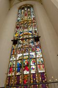 Stained glass from frauenkirche in munich Stock Photos