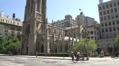 Tilt up from the Grace Church in Manhattan, New York City, USA Stock Footage