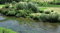 River Mreznica - Karlovac, Croatia Stock Footage