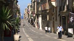 Street in Malta Stock Footage