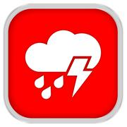 mainly cloudy with considerable amount of rain and possibility of lightning s - stock photo