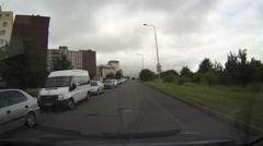 Driving the street in Prague, Czech Republic. Stock Footage