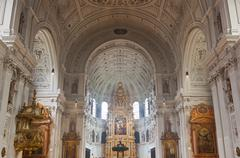 Interior of the st. michael church in munich Stock Photos