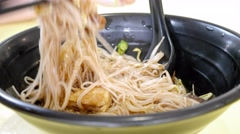 4k Ultra HD time lapse video on eating lor mee(TL-FOOD 2-V2) Stock Footage