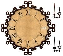 old clock with victorian style metallic frame - stock illustration