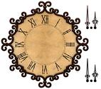Stock Illustration of old clock with victorian style metallic frame