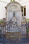 Manneken Pis statue in Brussels - stock photo
