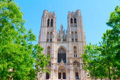 Saints Michael and Gudule in Brussels - stock photo