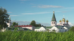 Stock Video Footage Russian monastery lake Stock Footage