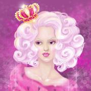 Glamorous queen Stock Illustration