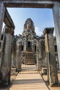 Bayon Temple in Angkor Thom, Angkor, Siem Reap Province, Cambodia, Indochina - stock photo