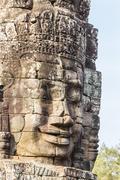 Bayon Temple in Angkor Thom, Angkor, Siem Reap Province, Cambodia - stock photo