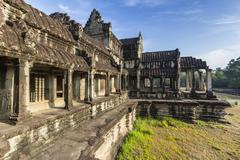 Raised terrace at Angkor Wat, Angkor, Siem Reap Province, Cambodia, Indochina - stock photo