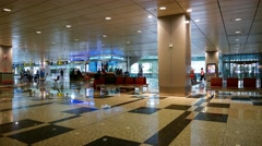 4k UHD time lapse video of arrival hall of Changi Airport Terminal 3, Singapore Stock Footage