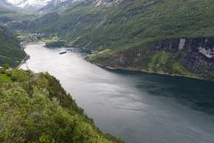 Geirangerfjord, UNESCO World Heritage Site, Norway, Scandinavia, Europe Stock Photos