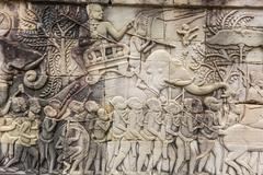 Bayon Temple in Angkor Thom, Angkor, Siem Reap Province, Cambodia Stock Photos