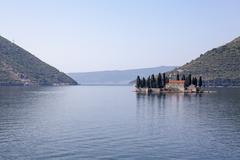 St. George Island, Perast, Bay of Kotor, UNESCO World Heritage Site, Montenegro Stock Photos