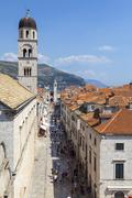 Dubrovnik Old Town, Dubrovnik, Dalmatia, Croatia - stock photo