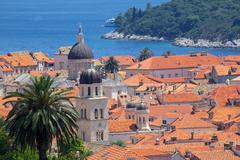 View over Old Town, UNESCO World Heritage Site, Dubrovnik, Dalmatia, Croatia Stock Photos