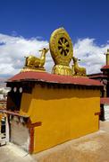 Golden Wheel of Dharma, China Stock Photos