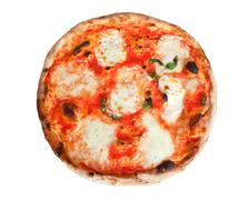 Stock Photo of pizza margherita with slices of mozzarella