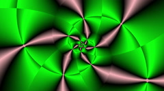 Rose fractal psychedelic color changing Green - LoopNeo VJ Loops HD 1920X1080 - stock footage