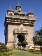 Patuxai (Arc de Triomphe), Vientiane, Laos, Indochina, Southeast Asia, Asia - stock photo