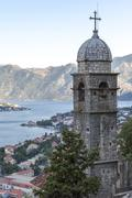 Kotor Old Town at dawn Church of Our Lady of Remedy, Kotor, Montenegro Stock Photos