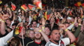 German Crowd People Celebrating Cheering Goal Germany Team in World Cup 2014 Footage
