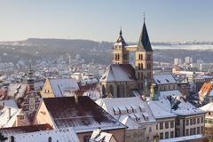 Stock Photo of Esslinger Altstadt in winter, Esslingen am Neckar, Baden Wurttemberg, Germany