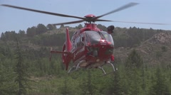 Rescue helicopter in slow motion Stock Footage