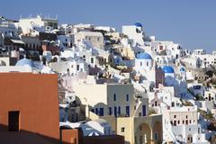 Oia, Santorini, Cyclades, Aegean Sea, Greek Islands, Greece Stock Photos