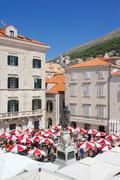 Stock Photo of Market, Gunduliceeva Poljana, Dubrovnik, Dalmatia, Croatia, Europe