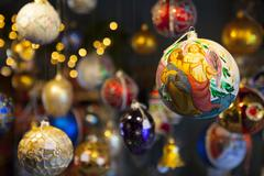 Stock Photo of Christmas baubles, Norway