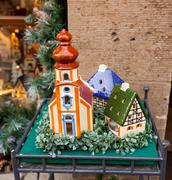 Porcelain houses, typical souvenirs rothenburg ob der tauber Stock Photos