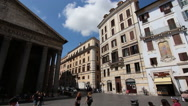 Stock Video Footage of Pan shot Pantheon, Rome