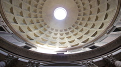 Inside the Pantheon, Rome Stock Footage