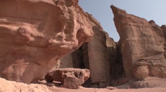 SOLOMON'S PILLAR TIMNA PARK ISRAEL SLIDER SHOT03 - stock footage