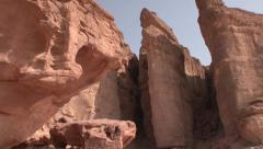 SOLOMON'S PILLAR TIMNA PARK ISRAEL SLIDER SHOT 04 - stock footage