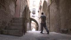 STREET OF JERUSALEM SLIDER SHOT 03 Stock Footage