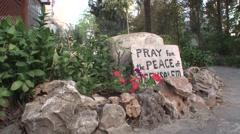 THE GARDEN TOMB IN JERUSALEM SLIDER SHOT 01 Stock Footage