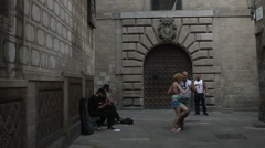 Barcelona Street performers Tango editorial Stock Footage