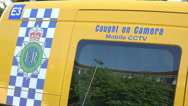 Stock Video Footage of caught on camera, mobile cctv police van, merseyside, england
