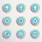 Arrow buttons - stock illustration