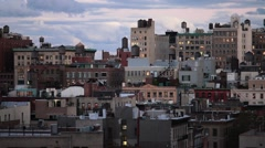 NYC Rooftops from West to East - stock footage