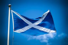 Scottish flag - stock photo