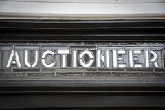 Auctioneer sign Stock Photos