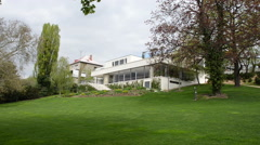 Villa Tugendhat in Brno, Czech republic Stock Footage