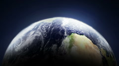 Planet Earth loop side close Stock Footage